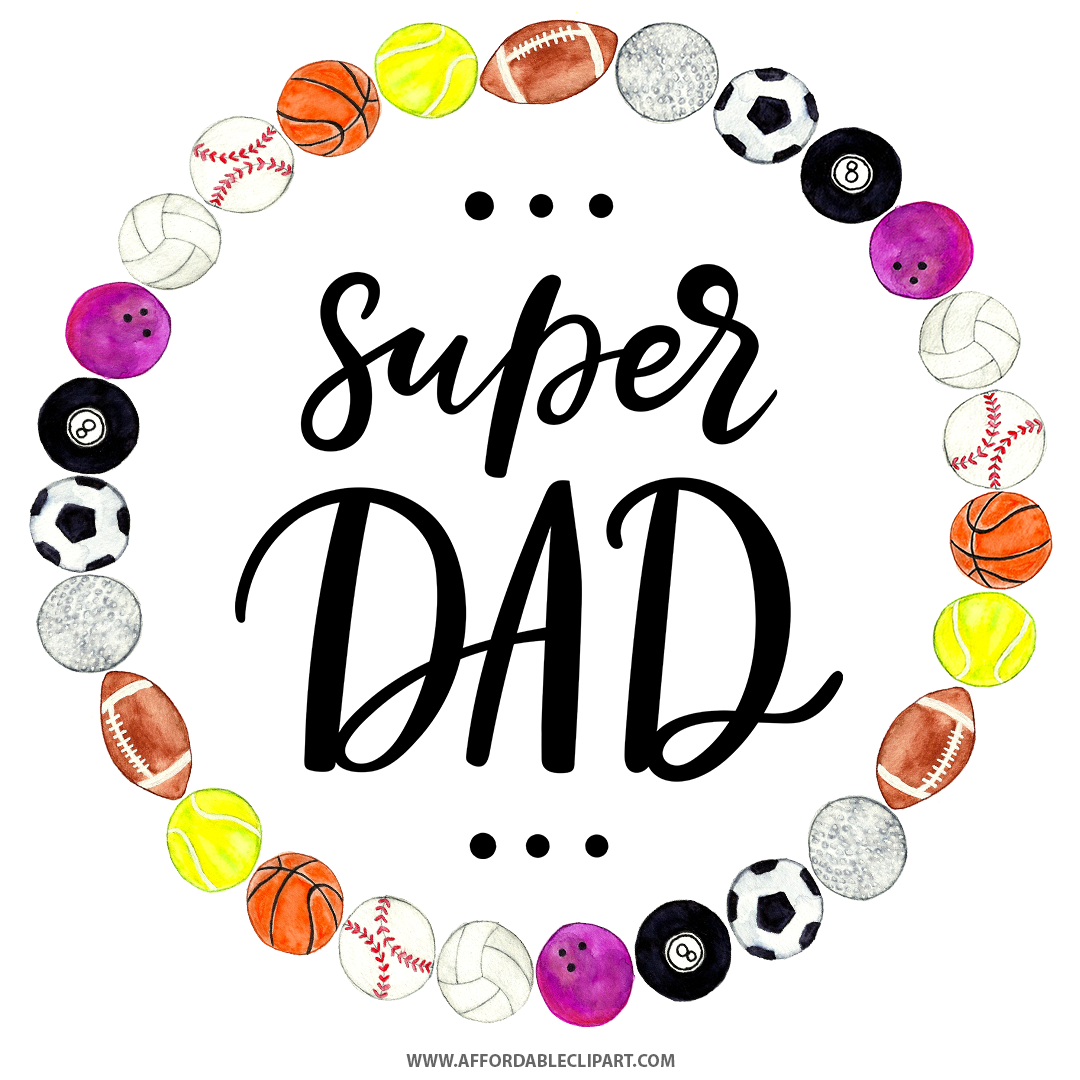 super dad sports ball wreath